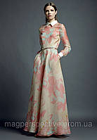Платье Valentino шелк длинное с длинным рукавом