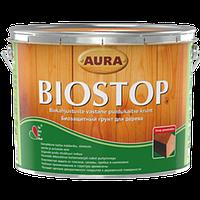Эскаро Aura Wood Biostop - Биозащитная грунтовка для древесины, 2,7л.