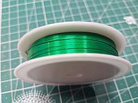 """Проволока бижутерная цвет """"зеленый"""", диаметр 0.4 мм"""