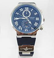 Часы Ulysse Nardin Marine (механика). Silver/Blue