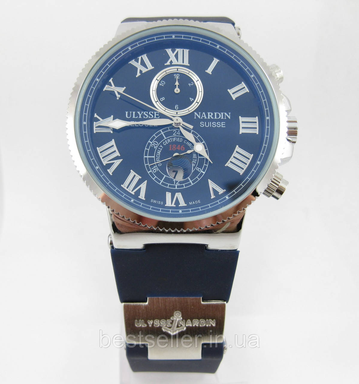 Часы Ulysse Nardin Marine (механика) Silver Blue. Replica ... 962eef2dae8