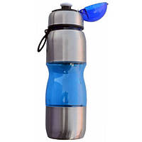 Бутылка для воды 0,75л (пластик+алюминий)