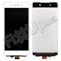 Дисплей Sony Xperia Z3 Plus DS E6553, Z4 E6533 с тачскрином в сборе, цвет белый, копия высокого качества