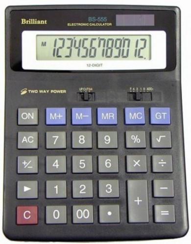 Калькулятор 12-разрядный Brilliant BS-555