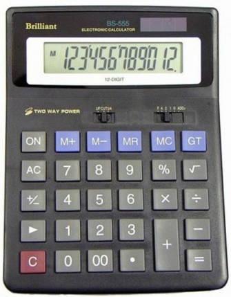 Калькулятор 12-разрядный Brilliant BS-555, фото 2