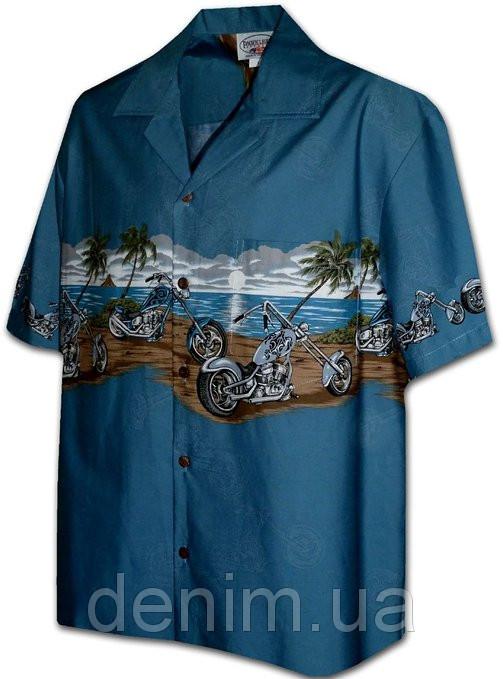 Рубашка гавайка Pacific Legend  440-3745 Blue