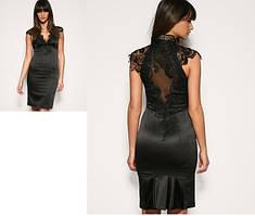 Маленькое черное платье женское коктельное вечернее нарядное в стиле Karen Millen