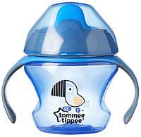 Первая чашка-непроливайка синяя, 150 мл, Tommee Tippee