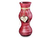 """Итальянская стеклянная ваза FRANCO """"Бордо с сердцем"""" 316-773"""