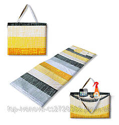 "Коврик-сумка ""HOLIDAY"" на молнии, летний узор, 1048-sun"
