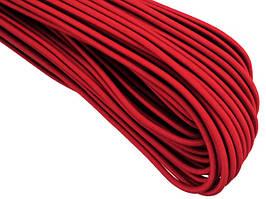 Резинка шляпная 2,5мм цв красный (уп 100м) Ф