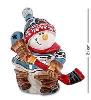 Подсвечник Снеговик-хоккеист (Pavone) BS-546