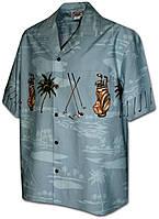 Рубашка гавайка Pacific Legend 440-3761 slate