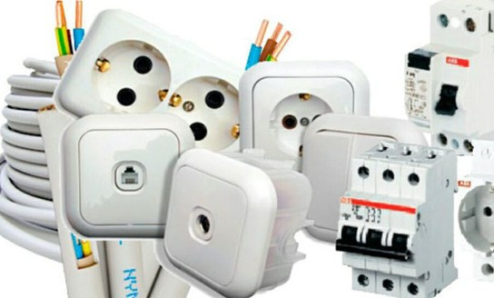 Электрика: розетки, выключатели, щитки, провод, коробки...