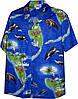Рубашка гавайка Pacific Legend 410-3692 Blue