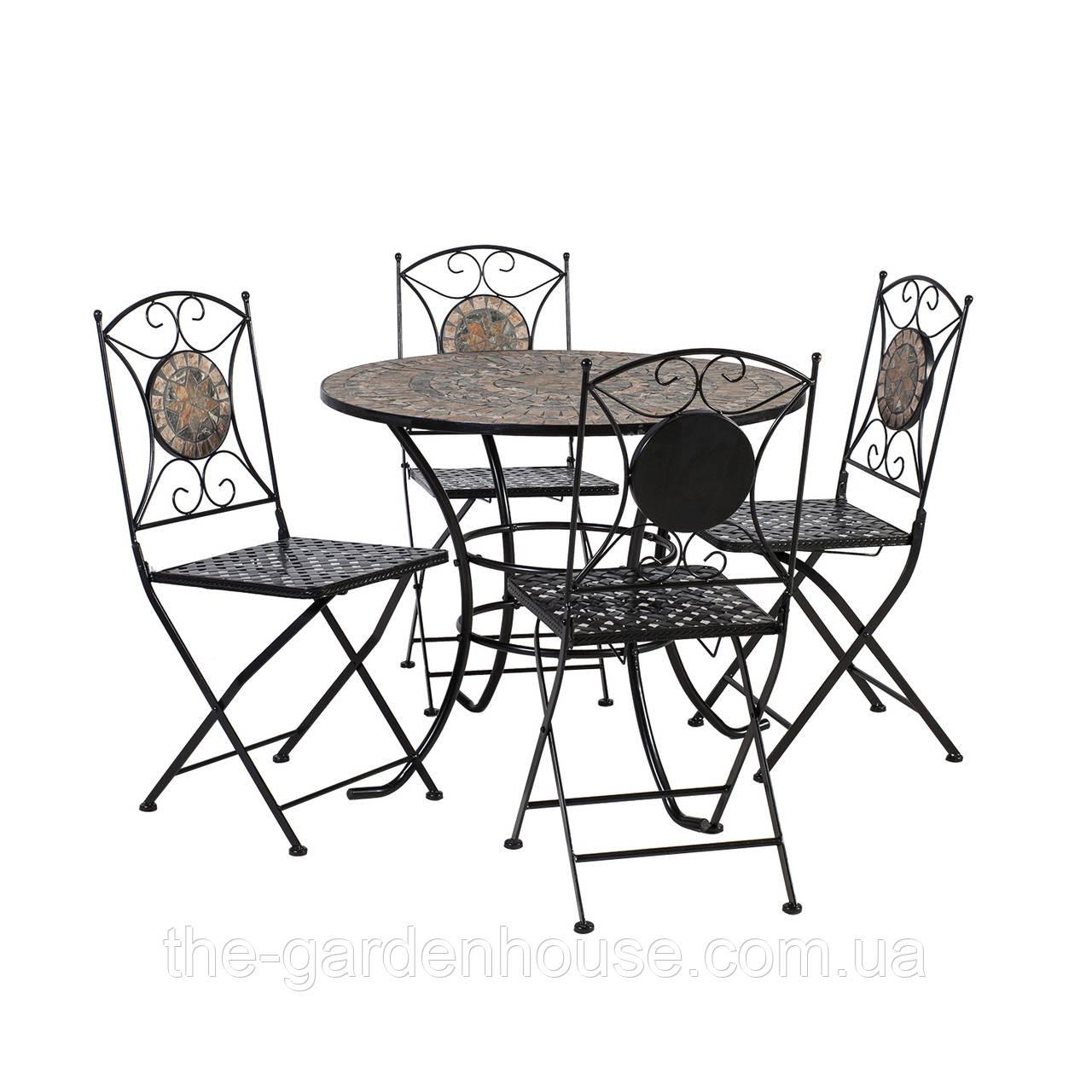 Набор садовой мебели: стол и 4 складных стула