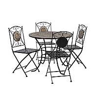 Набор садовой мебели: стол и 4 складных стула, фото 1