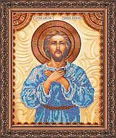 Набор для вышивки бисером на натуральном художественном холсте Святой Алексей