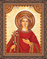 Набор для вышивки бисером на натуральном художественном холсте Святая Ирина