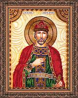 Набор для вышивки бисером на натуральном художественном холсте Святой Игорь