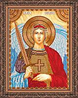 Набор для вышивки бисером на натуральном художественном холсте Святой Михаил