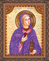 Набор для вышивки бисером на натуральном художественном холсте Святая Мария