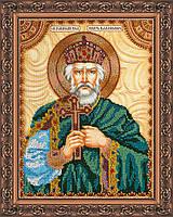 Набор для вышивки бисером на натуральном художественном холсте Святой Владимир