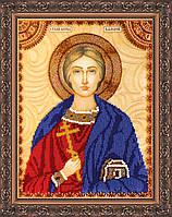 Набор для вышивки бисером на натуральном художественном холсте Святой Валерий