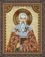 Набор для вышивки бисером на натуральном художественном холсте Святой Григорий