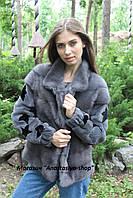 New 2017! Стильный норковый бомбер-куртка, трансформер на жилет, рукава -стриженная норка