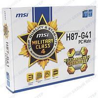 Материнская плата MSI H87-G41 PC Mate (s1150, Intel H87, PCI-E 3.0x16)