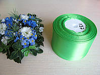 Лента атласная. Ширина 5 см.Цвет светло зеленый.