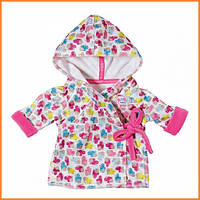 Одежда для куклы Беби Борн - Халат с капюшоном Baby Born Zapf Creation 822463
