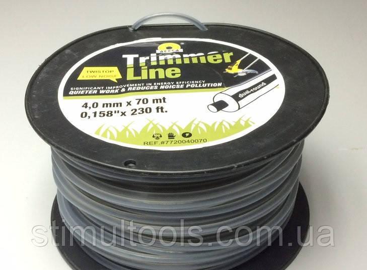 Леска в бобине 4.0 мм х 70 м круглая армированная для триммера, мотокосы