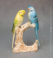 Фигура Пара попугаев 21 см., фарфор