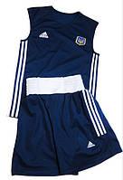 Боксёрская форма синяя, майка и шорты, FB-01\1