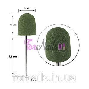 Полировщик силиконовый для ногтей Н 336 Зеленая груша большая