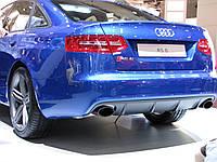 Акция!!! Накладка на задний бампер Ауди А6 С6 RS6