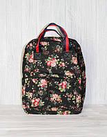 """Школьная, подростковая, студенческая сумка-рюкзак, принт """"розочка"""""""