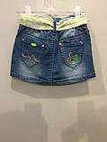 Детская джинсовая юбка 140 см, фото 3