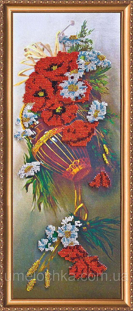 """Набор для вышивки бисером на натуральном художественном холсте """"Полевые цветы"""""""