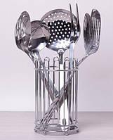 Набор кухонных аксессуаров Kamille Crystal в металлическом стакане (7 предметов)