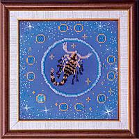 """РАСПРОДАЖА! Набор для вышивки бисером на натуральном художественном холсте """"Скорпион"""" из серии """"Знаки Зодиака"""""""