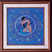 """РАСПРОДАЖА! Набор для вышивки бисером на натуральном художественном холсте """"Водолей"""" из серии """"Знаки Зодиака"""""""