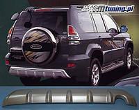 Накладка заднего бампера на Тойота Прадо 120