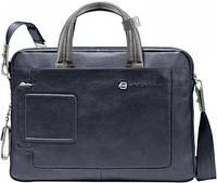 Мужской оригинальный портфель из натуральной кожи Piquadro Vibe/Blue-Grey, CA1903VI_BGR синий