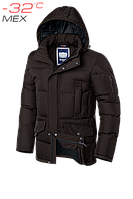 Куртка зимняя мужская на меху Braggart Dress Code - 2160D шоколад
