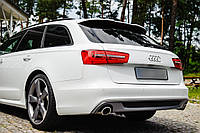 Спойлер, козырек  на Ауди А6 С7 универсал  в стиле С-лайн, Audi A6 C7 avant style S-line