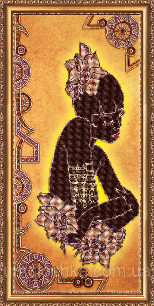 """РАСПРОДАЖА! Набор для вышивки бисером на натуральном художественном холсте """"Марокканка"""""""