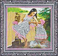 """РАСПРОДАЖА! Набор для вышивки бисером на натуральном художественном холсте """"Мамина любовь"""""""